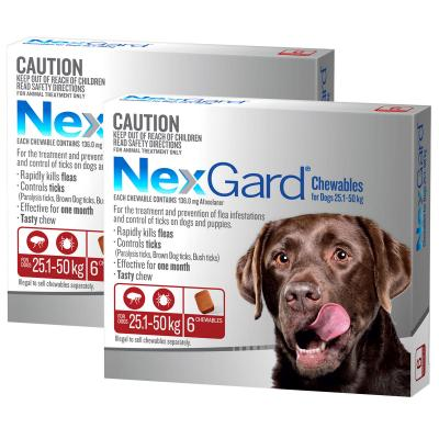 NexGard For Dogs Red Large 25.1-50kg 12 Pack