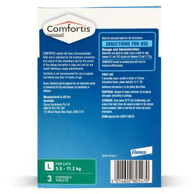 Comfortis For Cats 5.5-11.2kg Green 3 Tablets
