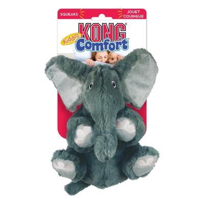 KONG Comfort Kiddos Elephant Plush Squeak Large Toy For Dogs