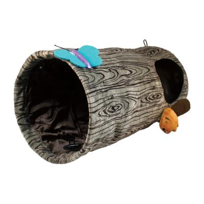 KONG Burrow Play Spaces Collapsible Crinkle Catnip Tunnel Toy For Cats