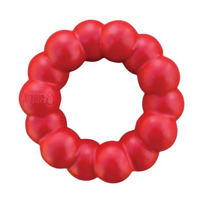 KONG Ring Red Small Medium Rubber Toy For Dogs