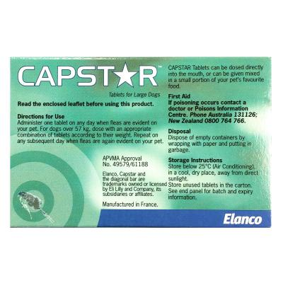 Capstar For Dogs Large 11.1-57kg 6 tablets