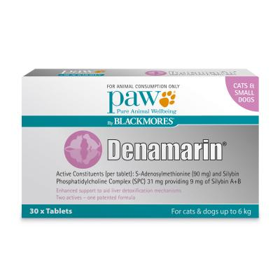 Paw By Blackmores Denamarin 90mg For Cats & Small Dogs Up To 6kg 30 Tablets