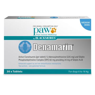 Paw By Blackmores Denamarin 225mg For Medium Dogs 6-16kg 30 Tablets