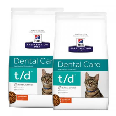 Hills Prescription Diet Feline t/d Dental Care Chicken Dry Cat Food 6kg