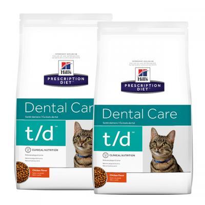 Hills Prescription Diet Feline t/d Dry Cat Food 6kg