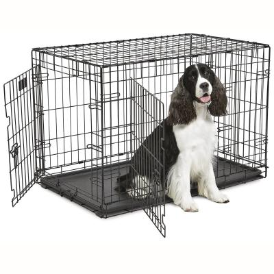 Midwest Contour Double Door Folding Intermediate Dog Crate 36 Inch