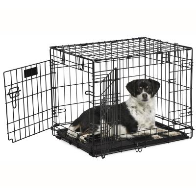 Midwest Contour Double Door Folding Small Dog Crate 24 Inch