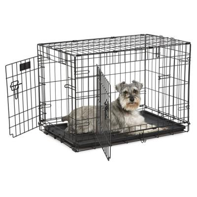Midwest Contour Double Door Folding Medium Dog Crate 30 Inch