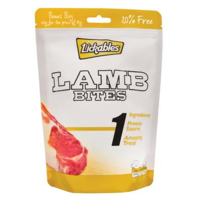 Lickables Bites Lamb Single Protein Treats For Dogs 100g BONUS 20% FREE