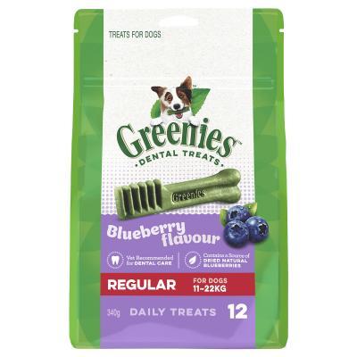 Greenies Dental Treats Blueberry Regular For Dogs 11-22kg (12 Treats In Pack)340gm