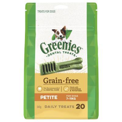 Greenies Dental Treats Grain Free Petite For Dogs 7-11kg (20 Treats) 340g