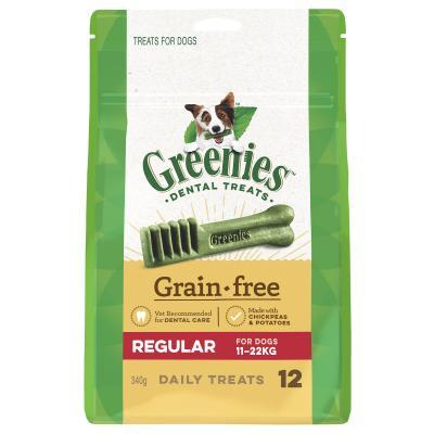 Greenies Dental Treats Grain Free Regular For Dogs 11-22kg  (12 Treats) 340g