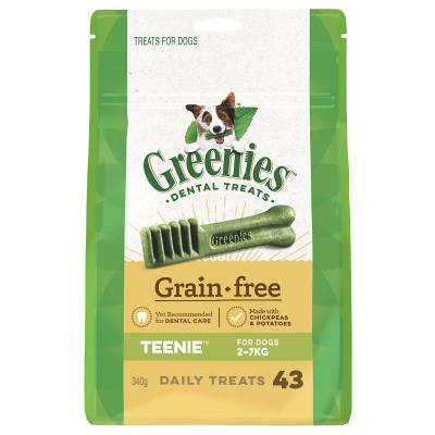 Greenies Dental Treats Grain Free Treat Teenies For Dogs 2-7kg (43 Treats) 340g