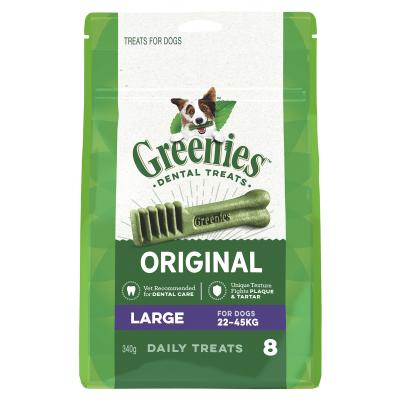 Greenies Dental Treats Original Large For Dogs 22-45kg (8 Treats) 340g