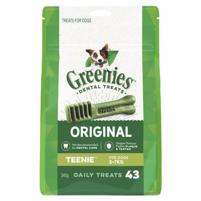 Greenies Dental Treats Original Teenie For Dogs 2 - 7kg (43 Treats ) 340g