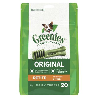 Greenies Dental Treats Original Petite For Dogs 7-11kg (20 Treats)340g
