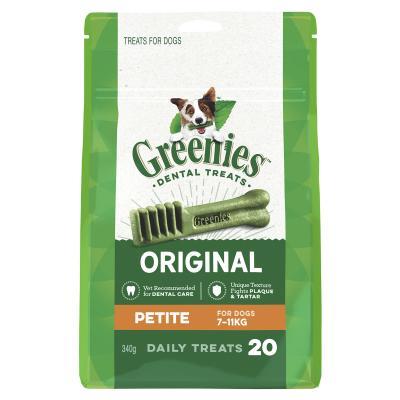 Greenies Dental Treats Original Petite For Dogs 7-11kg (20 Treats) 340g