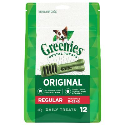 Greenies Dental Treats Original Regular For Dogs 11-22kg (12 Treats)340gm
