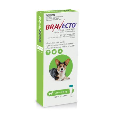 Bravecto Spot On For Dogs Green 10-20kg 1 Pack