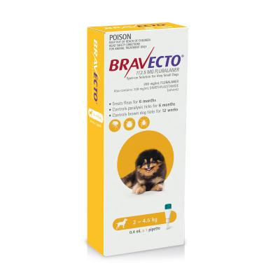 Bravecto Spot On For Dogs Yellow 2-4.5kg 1 Pack