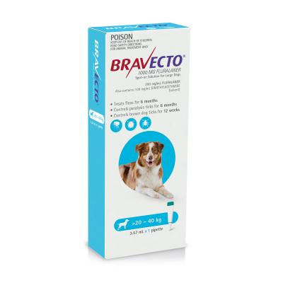 Bravecto Spot On For Dogs Blue 20-40kg 1 Pack