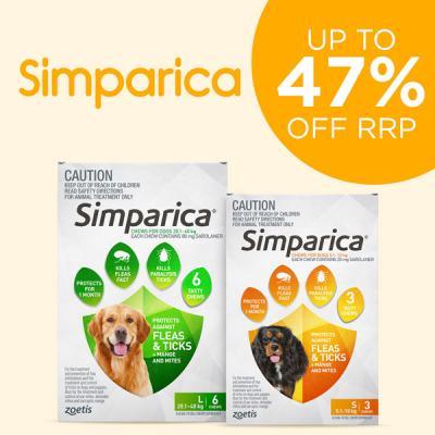 Simparica Range Up To 44% Off RRP