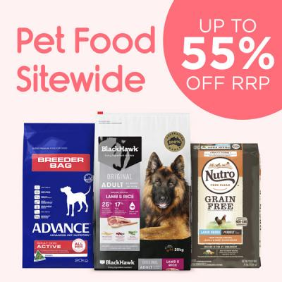 Up To 55% Off RRP On Pet Food Storewide