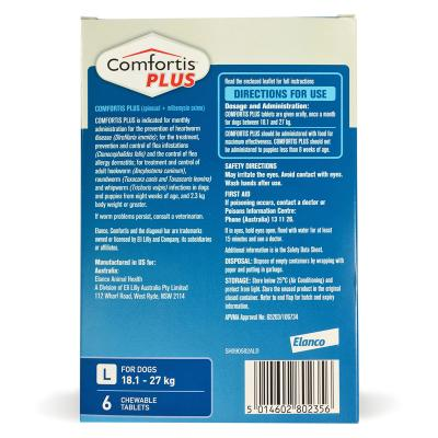 Comfortis Plus For Dogs Blue Large 18.1-27kg 6 Pack