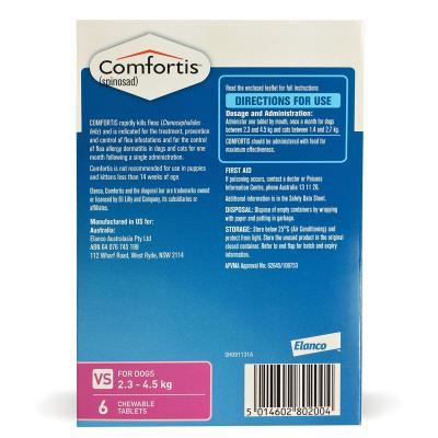 Comfortis For Dogs 2.3-4.5kg Pink 6 Tablets