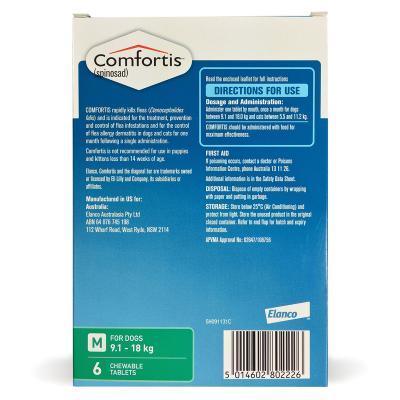 Comfortis For Dogs 9.1-18kg Green 6 Tablets