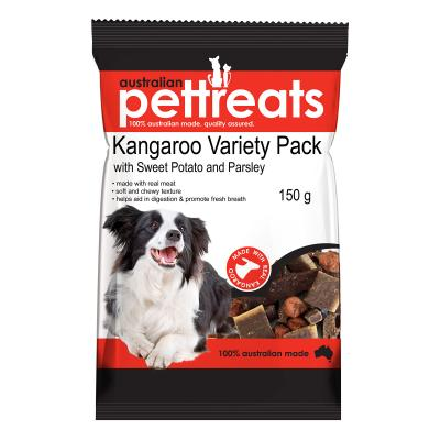 Australian Pettreats Kangaroo Variety Pack With Sweet Potato And Parsley Treats For Dogs 150gm