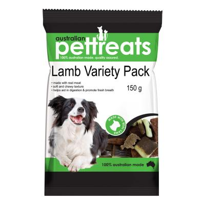Australian Pettreats Lamb Variety Pack With Mint And Garlic For Dogs 150gm