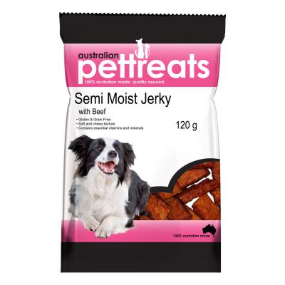 Australian Pettreats Semi Moist Jerky with Beef Treats For Dogs 120gm