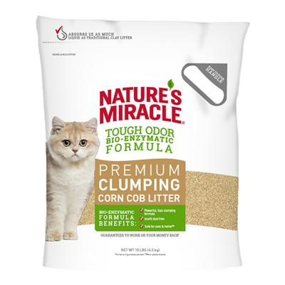 Natures Miracle Premium Clumping Corn Cob  Litter 4.5kg