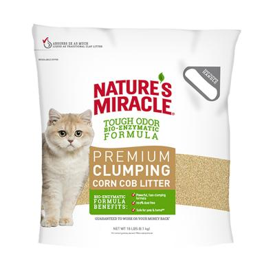 Natures Miracle Premium Clumping Corn Cob  Litter  8Kg