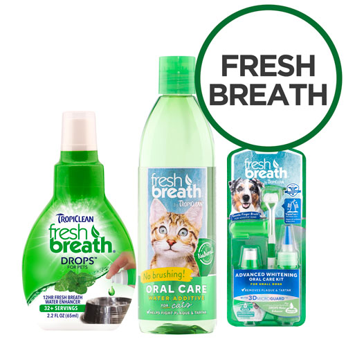 TropiClean Fresh Breath Dental Range