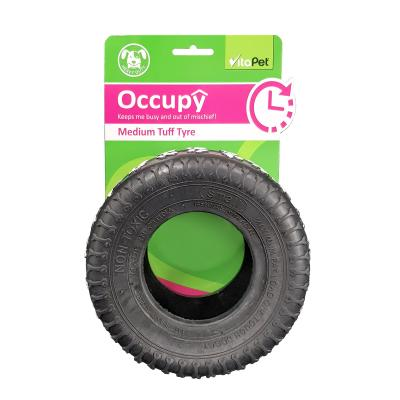 Vitapet Occupy Rubber Medium Tuff Tyre Toy For Dogs