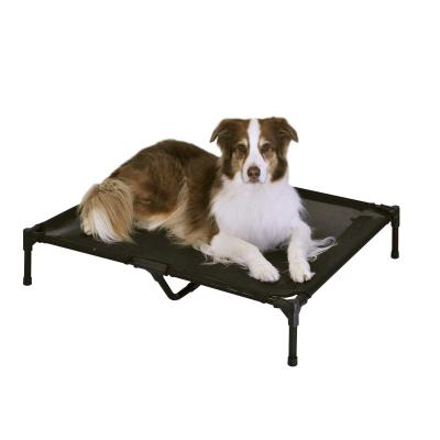 FlashPet Trampoline Bed Black Mesh Large For Dogs