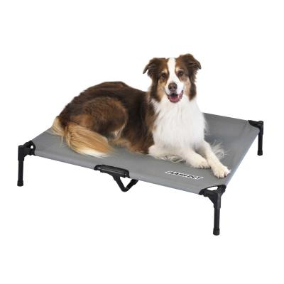 FlashPet Trampoline Bed Grey Canvas Large For Dogs