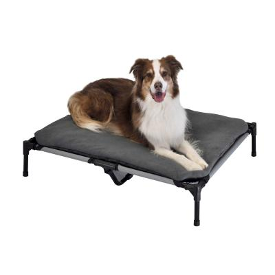 FlashPet Trampoline Bed Grey Canvas With Fleece Mat Large For Dogs