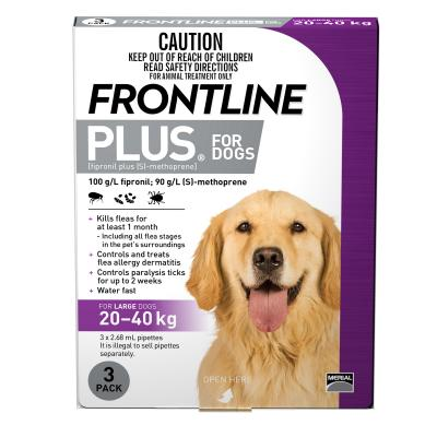 Frontline Plus For Dogs Large 20-40kg 3 Pack