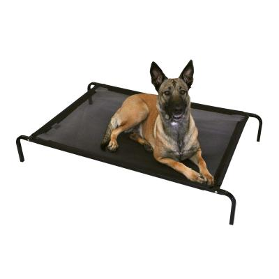 FlashPet Heavy Duty Trampoline Bed Black Mesh Large 130cm x 80cm x 19cm For Dogs