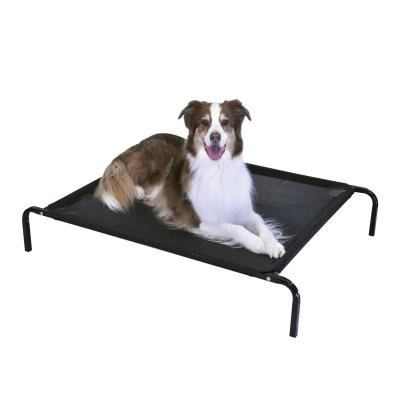 FlashPet Heavy Duty Trampoline Bed Black Mesh Medium - Large 110cm x 80cm x 19cm For Dogs