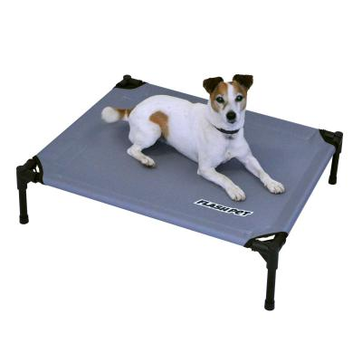 FlashPet Trampoline Bed Grey Canvas Medium For Dogs And Cats