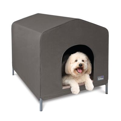 Kazoo Cabana Canvas Dog Kennel House Cappuccino Medium