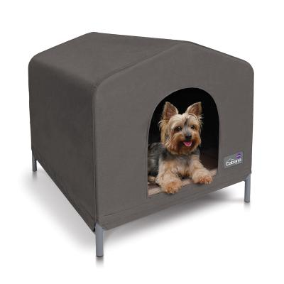 Kazoo Cabana Canvas Dog Kennel House Cappuccino Small