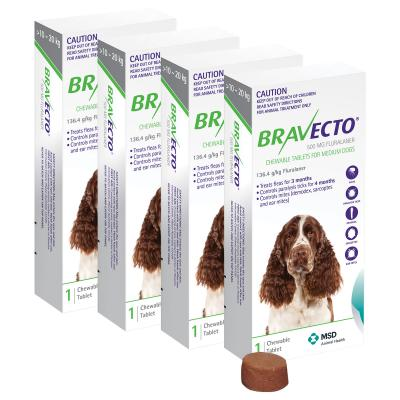 Bravecto For Medium Dogs 10-20kg 1 Chew X 4