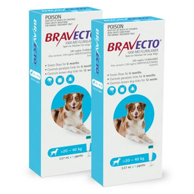 Bravecto Spot On For Dogs Blue 20-40kg 2 Pack