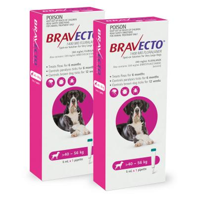 Bravecto Spot On For Dogs Pink 40-56kg 2 Pack